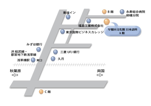 早稲田文化館ー地図(2)